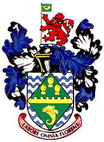 Arms of the former Huntingdonshire County Council