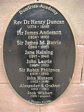 Plaque of Notable Students at Dumfries Academy.jpg