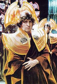 The Doctor in his Time Lord regalia