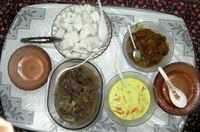 4 Malay dishes on a table.