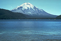 Mt St Helens before the 1980 eruption (taken from Spirit Lake)