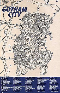 Gotham City map (1999)Cartography by Eliot R. Brown for No Man's Land and Gotham City Secret Files and Origins