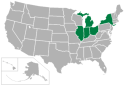 Mid-American Conference locations