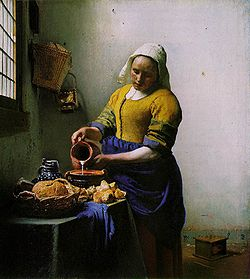 Vermeer's The Milkmaid.