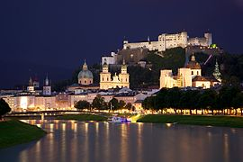 View of Salzburg City Centre