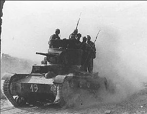 Spanish 11 interbrigada in the battle of Belchev. 1937.jpg