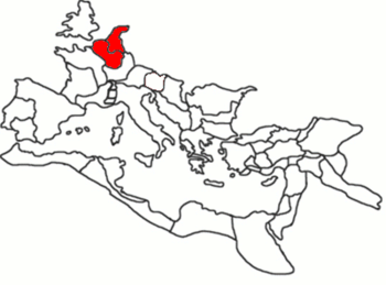 The two Roman provinces of Belgica and Germania Inferior